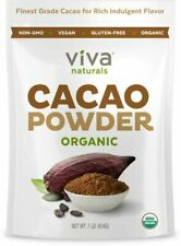 Viva Naturals #1 Best Certified Organic Cacao Powder From Superior 1 LB