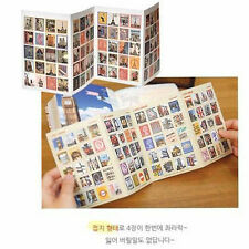 80pcs France Paris Stamp vintage travel Sticker Diary Planner Scrapbook Notebook