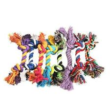 Dog Pet Toy Cotton Braided Puppy Bone Rope Teeth Clean Tug Chewing Treats Knot