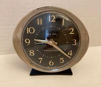 Vtg Westclox Wind Up BABY BEN Metal case Alarm Clock 3.5 LA SALLE IL 53632 Black