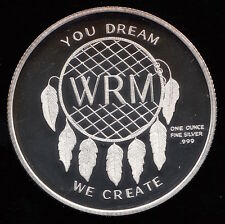 Canadian Wild Rose Pure Silver Round: Native Dreamcatcher: You Dream - We Create