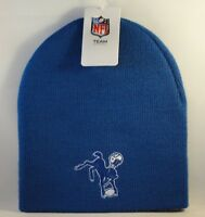 Baltimore Colts NFL Throwback Knit Beanie Hat Blue