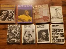 Collectible Sing Out! The Folk Song Magazine. 45 issues