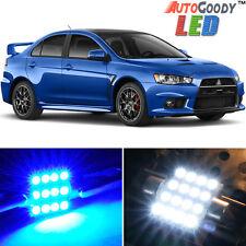 8 x Premium Blue LED Lights Interior Package Kit for 08-15 Lancer Evo X + Tool