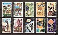 ASCENSION ISLAND # 138-147 MNH Space Accomplishments