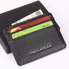 NISMO Slim Mini Wallet 100% Genuine Cow Leather Credit Card Case Men Holder Car