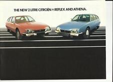 CITROEN 2 LITRE REFLEX AND ATHENA SALES BROCHURE 1979  1980
