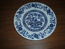 Crown Clarence 6 3/4 inch Blue Onion pattern pie or bread plate Made in England