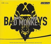 Matt Ruff - BAD MONKEYS 5 CD NEU Thriller Hörbuch CDs