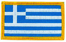 FLAG PATCH PATCHES GREEK GREECE  IRON ON COUNTRY EMBROIDERED WORLD FLAG
