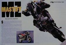 Mz Mastiff Original Motorcycle Test Article 1998