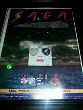Saga Worlds Apart Rare Tour Promo Poster Ad Framed!