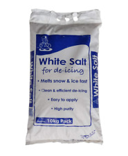 10KG WHITE ROCK SALT GRIT ICE SNOW WEATHER FOR STEPS DRIVEWAY PATHS