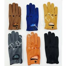 REAL SOFT LEATHER TOP QUALITY TABA MEN FASHION DRIVING GLOVES BLACK-TAN-BROWN