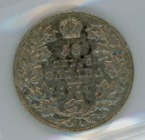 1913 Canada Fifty Cents - ICCS VF-30