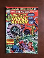 Marvel Triple Action #21 (1974) 7.5 VF Bronze Age Comic Book Avengers Hawkeye