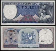 SURINAME 5 GULDEN (P120b) 1963 UNC