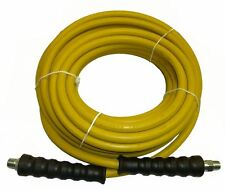 """4000 PSI Pressure Washer Hose 3/8"""" x 50' Yellow Non-Marking R1 Rating"""