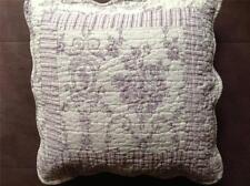 Quilt Patchwork funda cojín shabby chic 40 x 40 Toile Rosa de Jouy