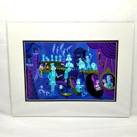 Art of Disney Theme Parks The Haunted Mansion 31 Ghosts Print By Shag 18 x 14