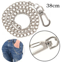 Extra Long Strong Metal hipster Key Wallet Belt Ring Clip Chain keychain  ZT