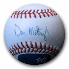Don Mattingly Signed Autographed AL Baseball Photoball NY Yankees JSA GG06007