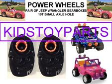 "(2X) 19T POWER WHEELS #7R GEARBOX WRANGLER JEEP WITH 10 3/4"" TIRES"