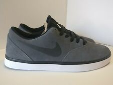 Nike SB Check CNVS TELA UK 8 DEEP ROYAL BLU NERO 705268402