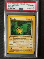 PSA 10 Gem Mint - BABY PIKACHU - Pokemon TCG: 2000 World Collection Promo #27