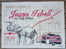 Jason Isbell Poster 4/28/14 The Roxy LA Signed & Numbered  Amanda Shires