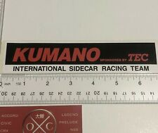 Kumano International Sidecar Racing Team Sticker Decal TEC Honda Suzuki Yamaha