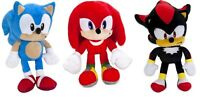 SONIC THE HEDGEHOG PLUSH SOFT TOYS 30CM-CHOICE OF 3 DIFFERENT CHARACTERS-NEW