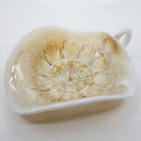 Dugan Leaf Rays Peach Opalescent Glass Nappy