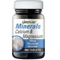 Lifeplan Calcium and Magnesium 500mg 300 Tablets (Pack of 3)