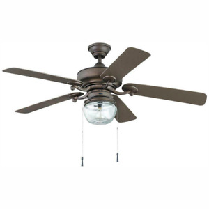 Home Decorators Collection Bromley 52 in. LED Indoor/Outdoor Bronze Ceiling Fan