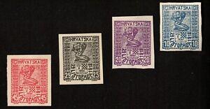 Croatia 1918 commemorative issue MI57-54 Proofs
