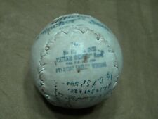Vintage 1950 's Double Header Softball/ Bb F12 Clincher Seam Official Signed