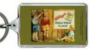 Kellogg's Whole Wheat Flakes Cereal Lucite Keychain KK1852