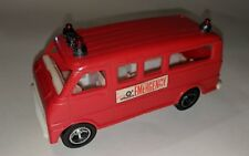 PLAY WHEELS ARCO  Rescue Ambulance Red PLASTIC TOY CAR 1970's