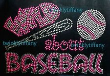 "HOTFIX RHINESTONES HEAT TRANSFER IRON ON ""WILD ABOUT BASEBALL NEON"""