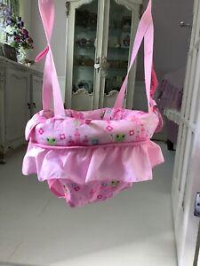 Bright Starts, EXCELLENT CONDITION,Girl's Pretty Pink Door Baby Bouncer Jumper,