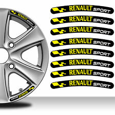 8 Renault Sport Rim Stickers Wheel Stripes Set Emblem Car Auto Tuning C89