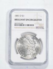 1881-O Morgan Silver Dollar - Brilliant Uncirculated BU Unc - NGC Graded *715