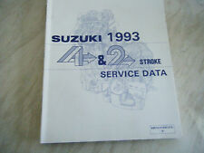 SUZUKI SERVICE DATA 4 STROKE AND 2 STROKE ALL MODELS CURRENT IN 1993 FREE POST