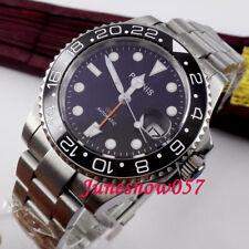 Big sale 40mm PARNIS GMT Automatic men's watch sapphire glass ceramic bezel 338