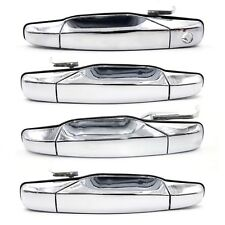 4Pcs 1Set Front Rear Chrome Door Handle for 07-13 Chevrolet Chevy GMC Cadillac