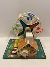 Vintage Fisher Price 1966 Little People Music Box Ferris Wheel # 969 WORKS!