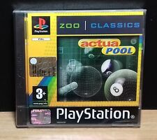 ACTUA POOL - PS1 - PlayStation 1 - PAL - NEW OLD STOCK FACTORY SEALED