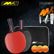 Table Tennis Kit 2 Bats FL+CS Ping Pong Set Retractable Net Rack Portable Sports