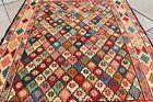 Genuine Wool Soumak Kilim 2.7x3.2 ft Caucasian Wonderful Soumak Woven Kilim Rug